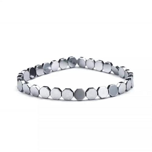 Hexagon Unisex Silver Bracelet