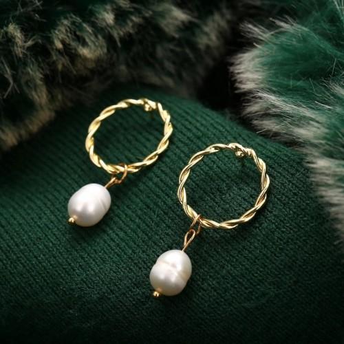 Lacey Pearl Drop Earrings