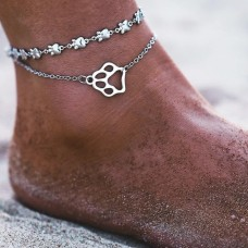 Dog Lover Anklet in Silver