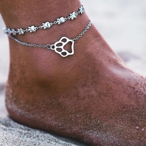 Dog Lover Anklet in Silver