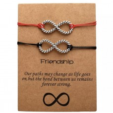 Infinity Friendship Bracelets in Black and Red