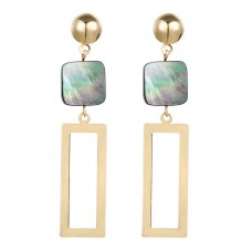 Dallis Square Drop Earrings