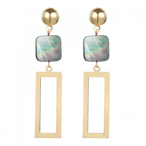 Dallis Square Drop Earrings