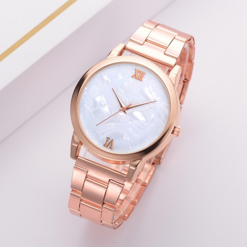 Rose Gold Metal Watch