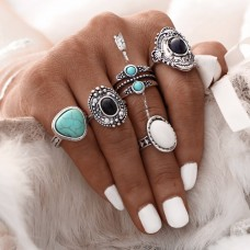 Mixed Boho Vintage Ring Set