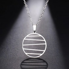 Modern Pendant Necklace in Silver