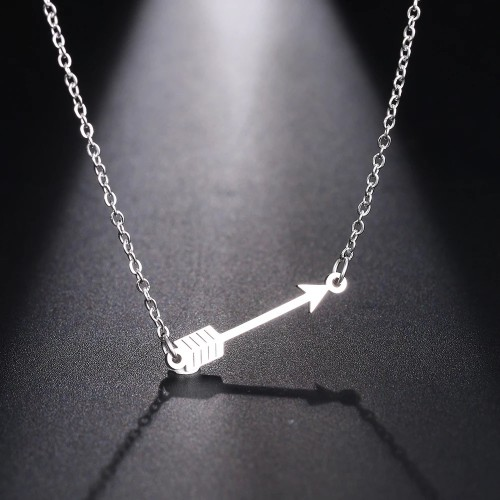Arrow Necklace in Silver