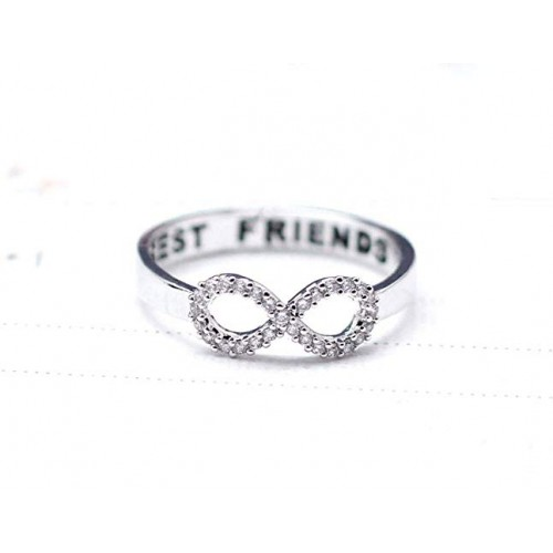 Silver Infinity BFF Ring