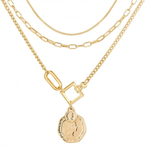 Sadie Coin Layered Necklace