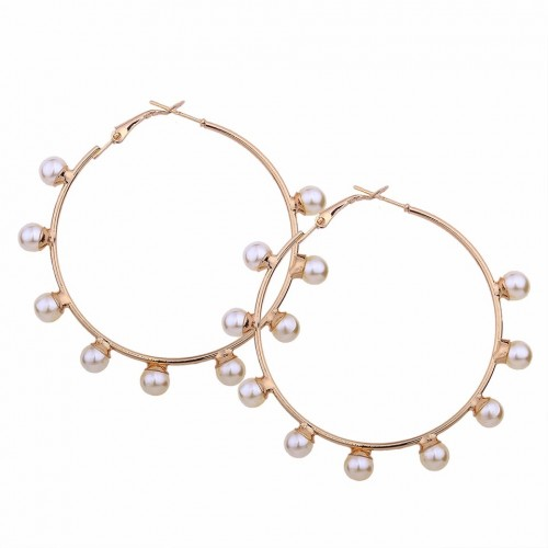 Athena Pearl Hoop Earrings
