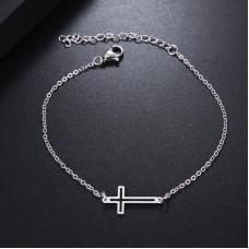 Cross Bracelet in Silver