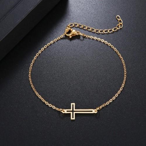 Cross Bracelet in Gold