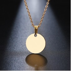 Disc Pendant Necklace in Gold