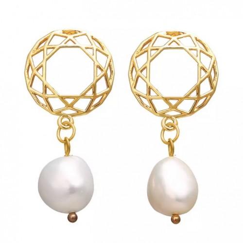 Festive Pearl Drop Earrings