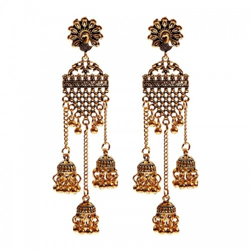 Layla Desi Earrings in Gold