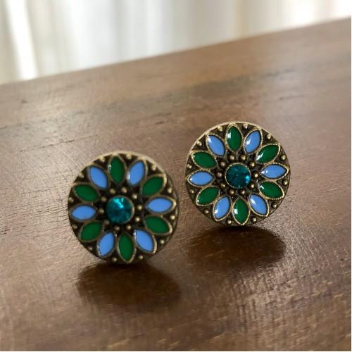 Flower Child Blue Hues Stud Earrings
