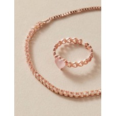 Rose Gold Heart Ring and Bracelet
