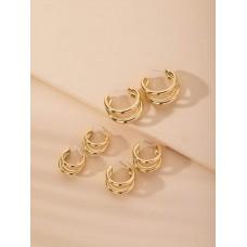 Tri Hoop Earrings