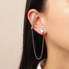 Cute Heart Decor Earring 1Pc