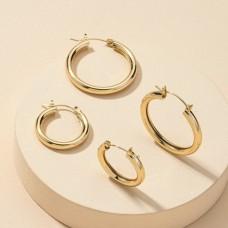 Tube Hoop Earrings
