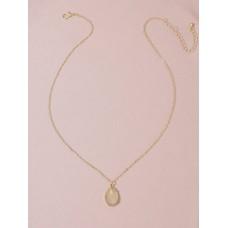 Druzy Golden Pendant Necklace
