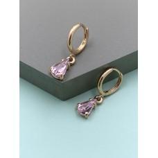 Lilac Stone Drop Earrings