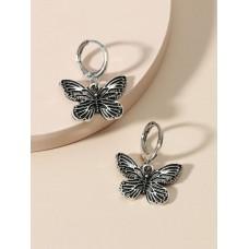 Vintage Butterfly Drop Earrings