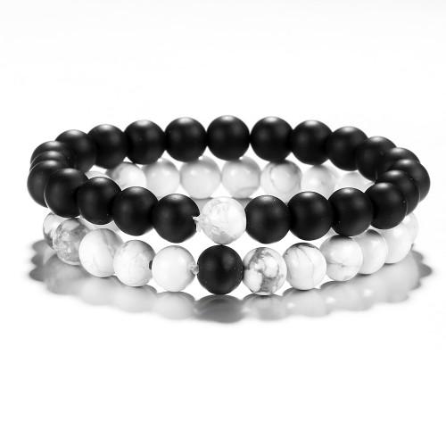 Distance Bead Bracelets 2Pcs