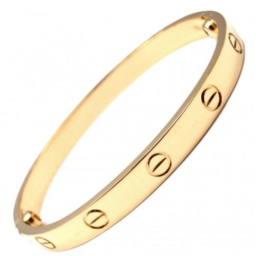Love Bangle in Gold