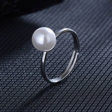 Adjustable Simple Pearl Ring