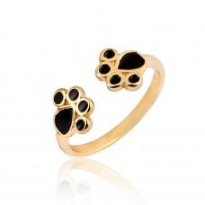 Dog Lover Ring in Gold