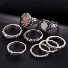 Frosted Vintage Ring Set