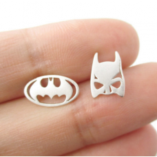 Bat Man Ear Studs