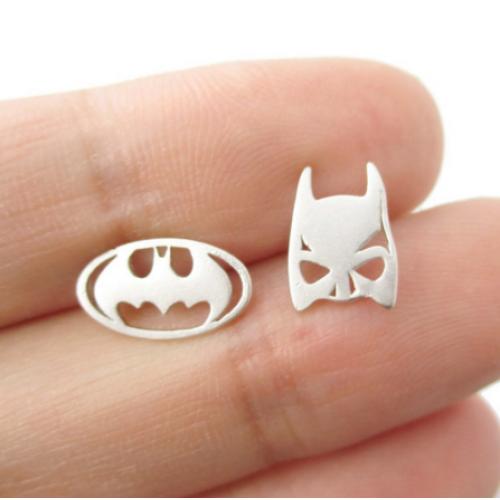 Bat Man Ear Studs
